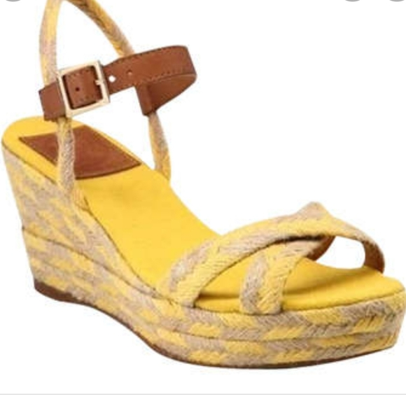 Tory Burch Cameila Wedge Espadrille Strappy Sandal